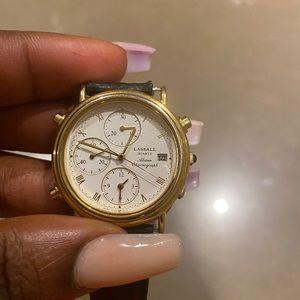 Lassale leather watch
